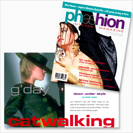 Phashion Magazine cover and spread