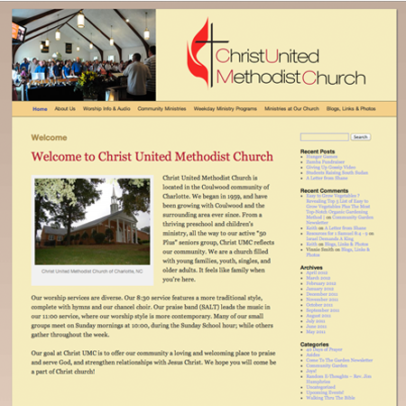 Christ United Methodist Church Charlotte screenshot