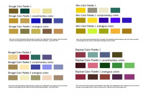 Color Palettes for CUMC website