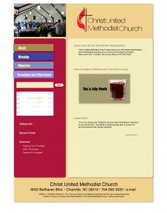 Original prototype for CUMC website homepage
